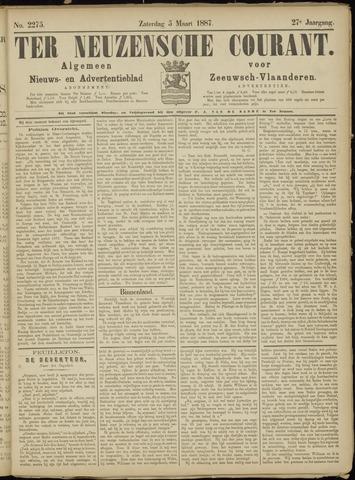 Ter Neuzensche Courant. Algemeen Nieuws- en Advertentieblad voor Zeeuwsch-Vlaanderen / Neuzensche Courant ... (idem) / (Algemeen) nieuws en advertentieblad voor Zeeuwsch-Vlaanderen 1887-03-05