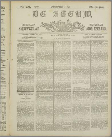 De Zeeuw. Christelijk-historisch nieuwsblad voor Zeeland 1910-07-07