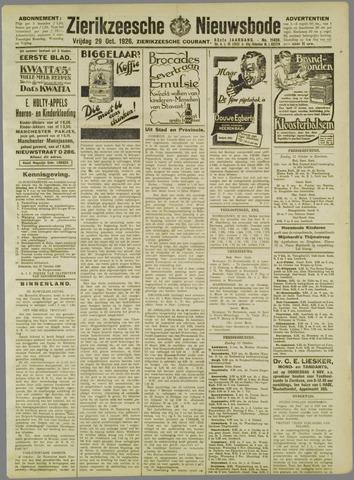 Zierikzeesche Nieuwsbode 1926-10-29
