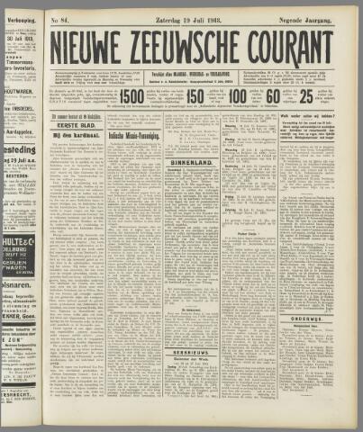 Nieuwe Zeeuwsche Courant 1913-07-19