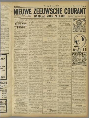 Nieuwe Zeeuwsche Courant 1921-01-22
