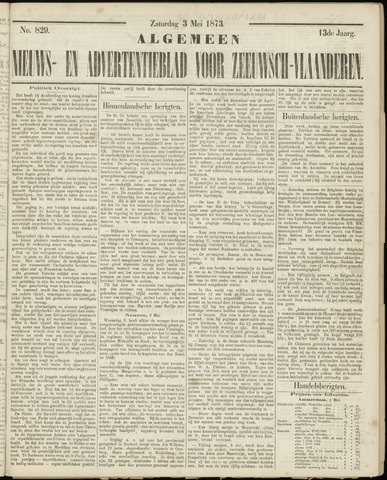 Ter Neuzensche Courant. Algemeen Nieuws- en Advertentieblad voor Zeeuwsch-Vlaanderen / Neuzensche Courant ... (idem) / (Algemeen) nieuws en advertentieblad voor Zeeuwsch-Vlaanderen 1873-05-03
