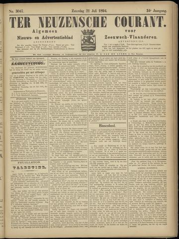 Ter Neuzensche Courant. Algemeen Nieuws- en Advertentieblad voor Zeeuwsch-Vlaanderen / Neuzensche Courant ... (idem) / (Algemeen) nieuws en advertentieblad voor Zeeuwsch-Vlaanderen 1894-07-21