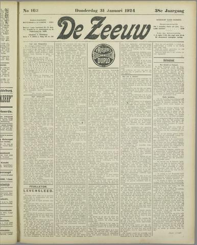 De Zeeuw. Christelijk-historisch nieuwsblad voor Zeeland 1924-01-31