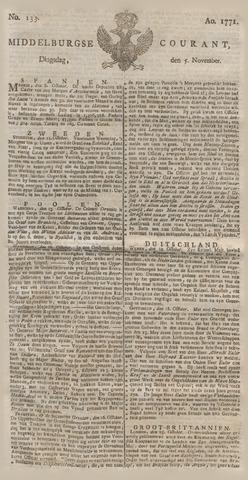 Middelburgsche Courant 1771-11-05
