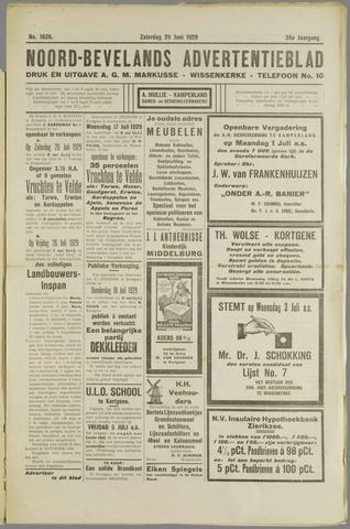 Noord-Bevelands Nieuws- en advertentieblad 1929-06-29