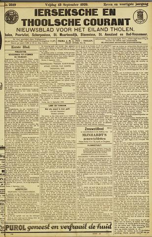 Ierseksche en Thoolsche Courant 1929-09-13
