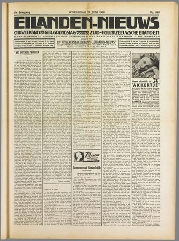 Eilanden-nieuws. Christelijk streekblad op gereformeerde grondslag 1938-06-22