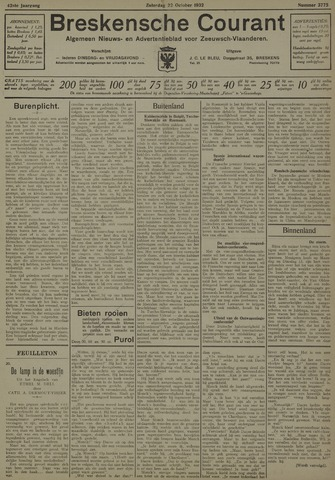 Breskensche Courant 1932-10-22