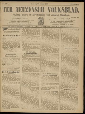 Ter Neuzensch Volksblad. Vrijzinnig nieuws- en advertentieblad voor Zeeuwsch- Vlaanderen / Zeeuwsch Nieuwsblad. Nieuws- en advertentieblad voor Zeeland 1917-01-20
