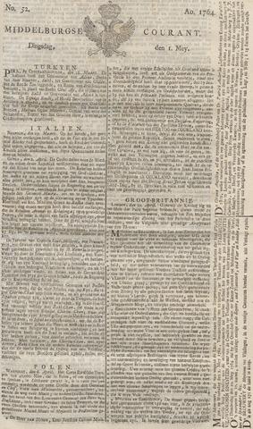 Middelburgsche Courant 1764-05-01