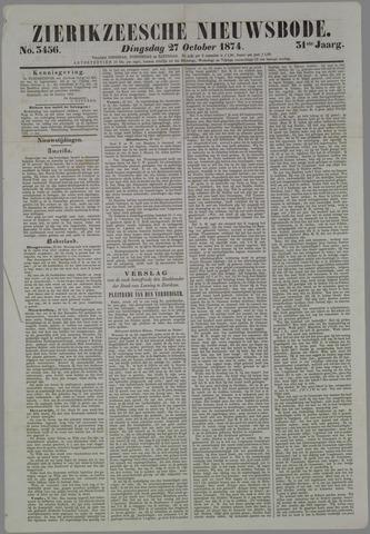 Zierikzeesche Nieuwsbode 1874-10-27