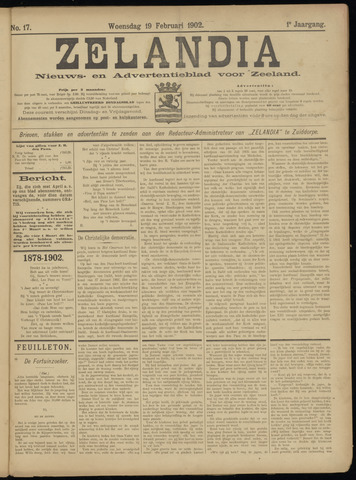 Zelandia. Nieuws-en advertentieblad voor Zeeland | edities: Het Land van Hulst en De Vier Ambachten 1902-02-19