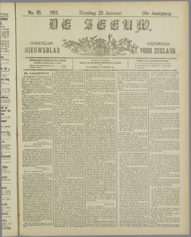 De Zeeuw. Christelijk-historisch nieuwsblad voor Zeeland 1912-01-23