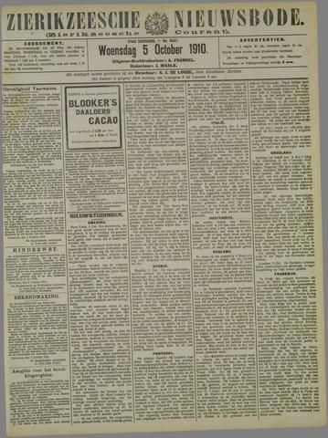Zierikzeesche Nieuwsbode 1910-10-05