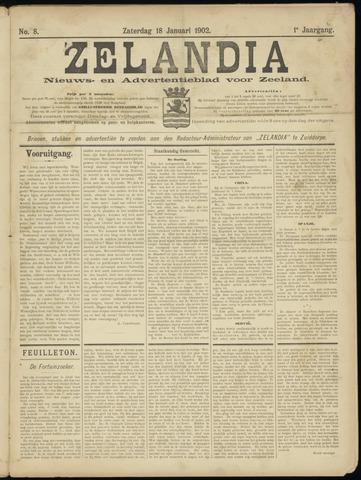 Zelandia. Nieuws-en advertentieblad voor Zeeland | edities: Het Land van Hulst en De Vier Ambachten 1902-01-18