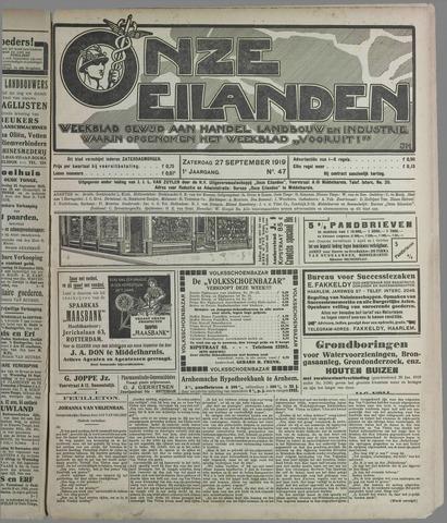 Onze Eilanden 1919-09-27