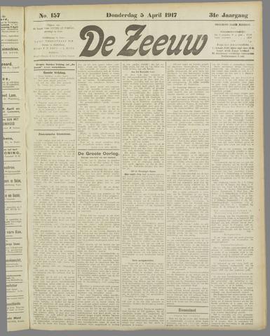 De Zeeuw. Christelijk-historisch nieuwsblad voor Zeeland 1917-04-05