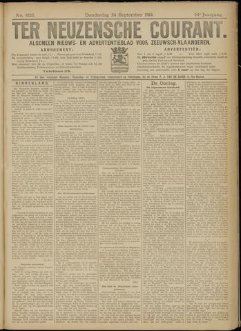 Ter Neuzensche Courant. Algemeen Nieuws- en Advertentieblad voor Zeeuwsch-Vlaanderen / Neuzensche Courant ... (idem) / (Algemeen) nieuws en advertentieblad voor Zeeuwsch-Vlaanderen 1914-09-24
