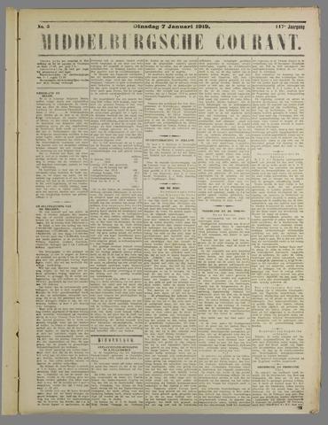 Middelburgsche Courant 1919-01-07