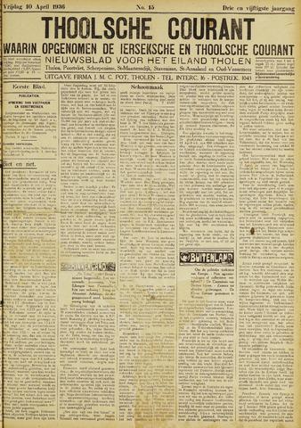 Ierseksche en Thoolsche Courant 1936-04-10