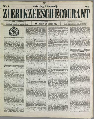 Zierikzeesche Courant 1863