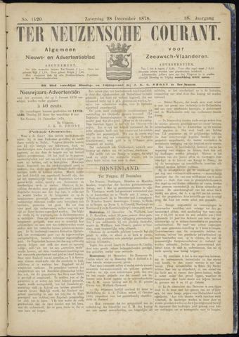 Ter Neuzensche Courant. Algemeen Nieuws- en Advertentieblad voor Zeeuwsch-Vlaanderen / Neuzensche Courant ... (idem) / (Algemeen) nieuws en advertentieblad voor Zeeuwsch-Vlaanderen 1878-12-28