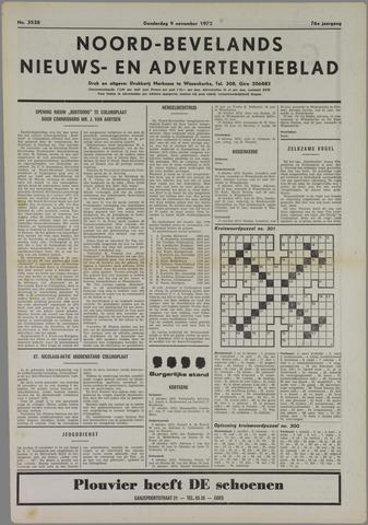 Noord-Bevelands Nieuws- en advertentieblad 1972-11-09
