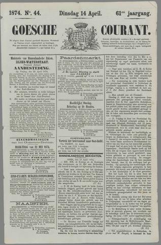 Goessche Courant 1874-04-14