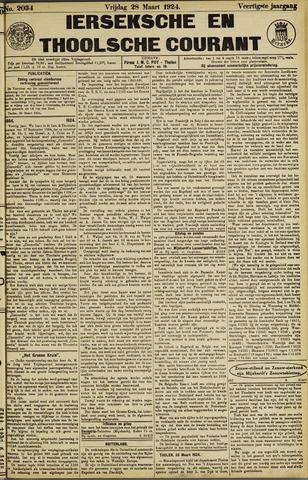 Ierseksche en Thoolsche Courant 1924-03-28