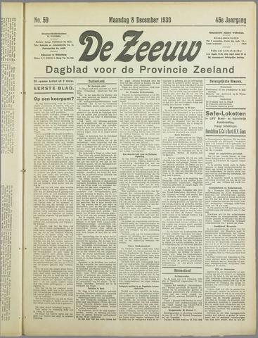 De Zeeuw. Christelijk-historisch nieuwsblad voor Zeeland 1930-12-08