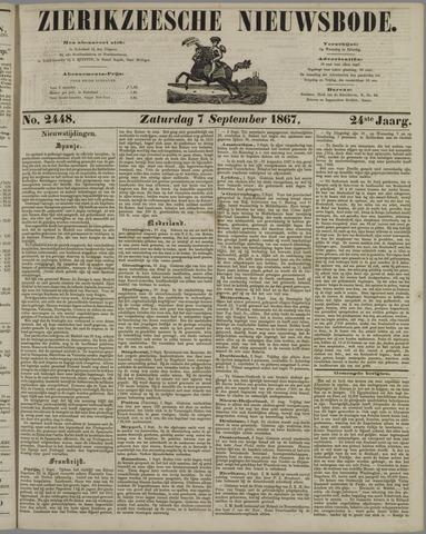 Zierikzeesche Nieuwsbode 1867-09-07