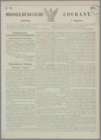 Middelburgsche Courant 1854-08-05