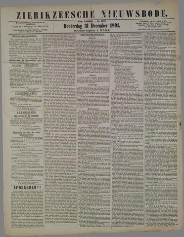 Zierikzeesche Nieuwsbode 1891-12-31