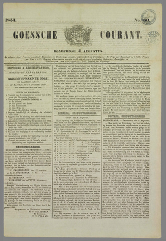 Goessche Courant 1853-08-04