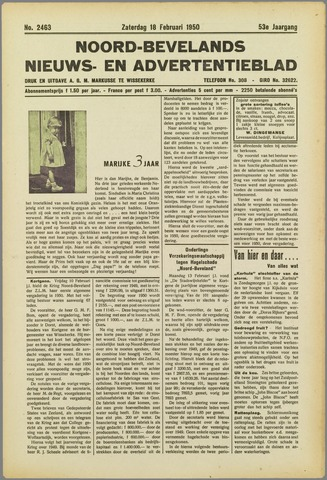 Noord-Bevelands Nieuws- en advertentieblad 1950-02-18