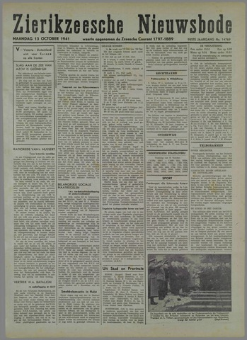 Zierikzeesche Nieuwsbode 1941-10-04