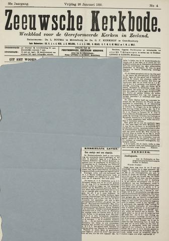 Zeeuwsche kerkbode, weekblad gewijd aan de belangen der gereformeerde kerken/ Zeeuwsch kerkblad 1921-01-28