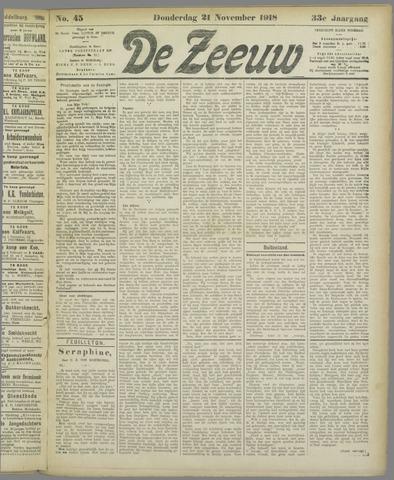De Zeeuw. Christelijk-historisch nieuwsblad voor Zeeland 1918-11-21