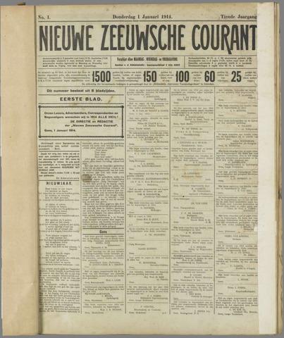 Nieuwe Zeeuwsche Courant 1914