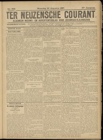Ter Neuzensche Courant. Algemeen Nieuws- en Advertentieblad voor Zeeuwsch-Vlaanderen / Neuzensche Courant ... (idem) / (Algemeen) nieuws en advertentieblad voor Zeeuwsch-Vlaanderen 1927-08-22