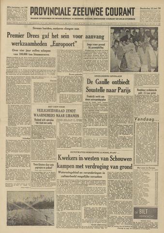 Provinciale Zeeuwse Courant 1958-06-12