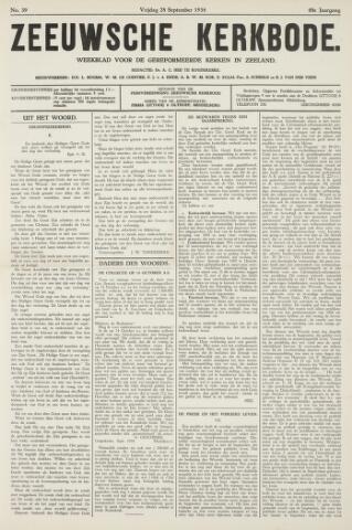 Zeeuwsche kerkbode, weekblad gewijd aan de belangen der gereformeerde kerken/ Zeeuwsch kerkblad 1934-09-28