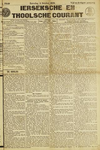 Ierseksche en Thoolsche Courant 1918-10-05