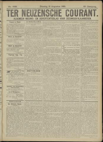 Ter Neuzensche Courant. Algemeen Nieuws- en Advertentieblad voor Zeeuwsch-Vlaanderen / Neuzensche Courant ... (idem) / (Algemeen) nieuws en advertentieblad voor Zeeuwsch-Vlaanderen 1920-08-10