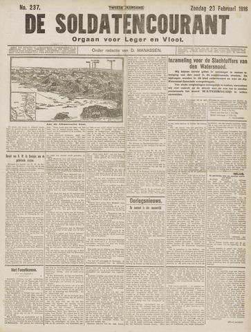 De Soldatencourant. Orgaan voor Leger en Vloot 1916-02-20