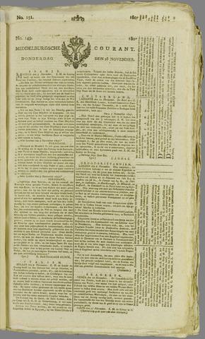 Middelburgsche Courant 1807-11-26