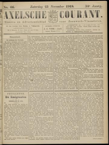 Axelsche Courant 1918-11-23
