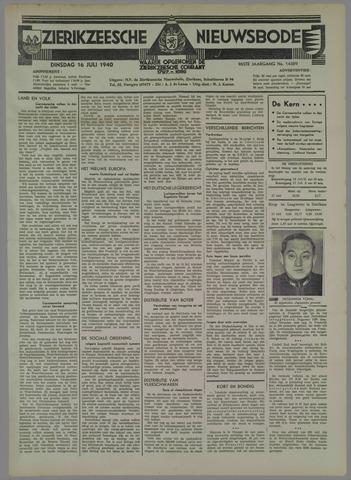 Zierikzeesche Nieuwsbode 1940-07-16
