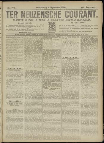 Ter Neuzensche Courant. Algemeen Nieuws- en Advertentieblad voor Zeeuwsch-Vlaanderen / Neuzensche Courant ... (idem) / (Algemeen) nieuws en advertentieblad voor Zeeuwsch-Vlaanderen 1920-09-09